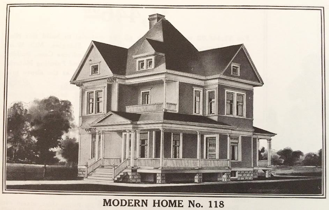 Sears Modern Home No 118 in 1912 catalog