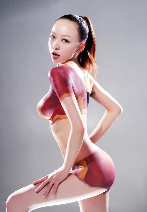 girl body asian paint Hot