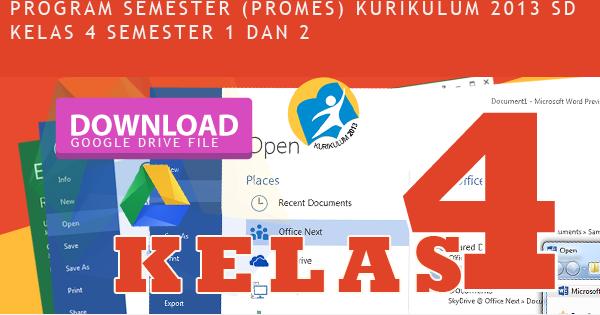 Prota Promes Dan Kkm Kelas 4 Sd Kurikulum 2013 Revisi