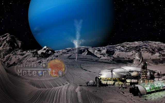 colônia em tritão, lua de Netuno