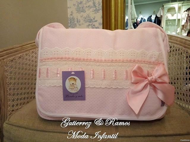 bolsa carrito lencera rosa