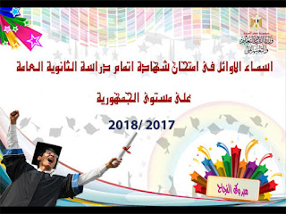 أوائل الثانوية العامة 2018 جميع محافظات مصر الأن ورابط نتائج الصف الثالث الثانوي 2018