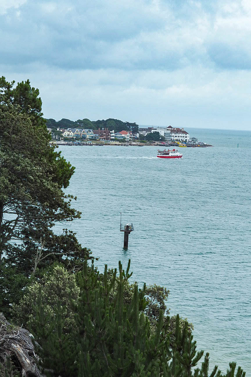 View to Sandbanks from Brownsea Island