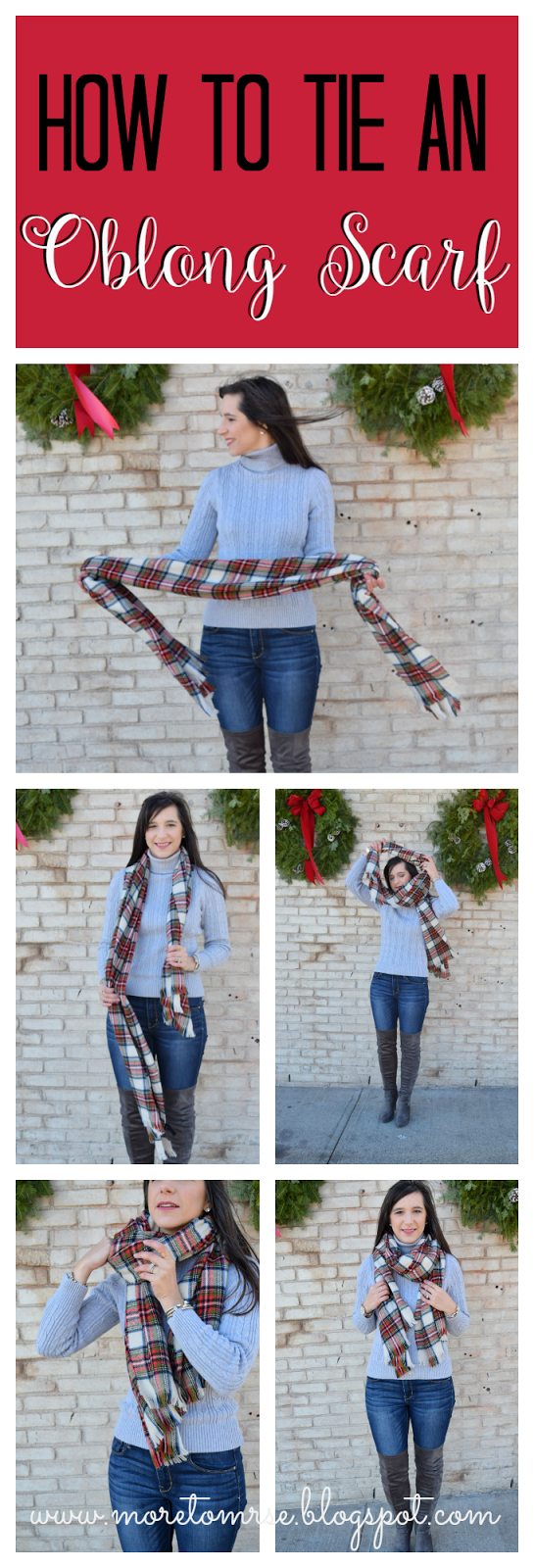 How to Tie a Winter Oblong Scarf
