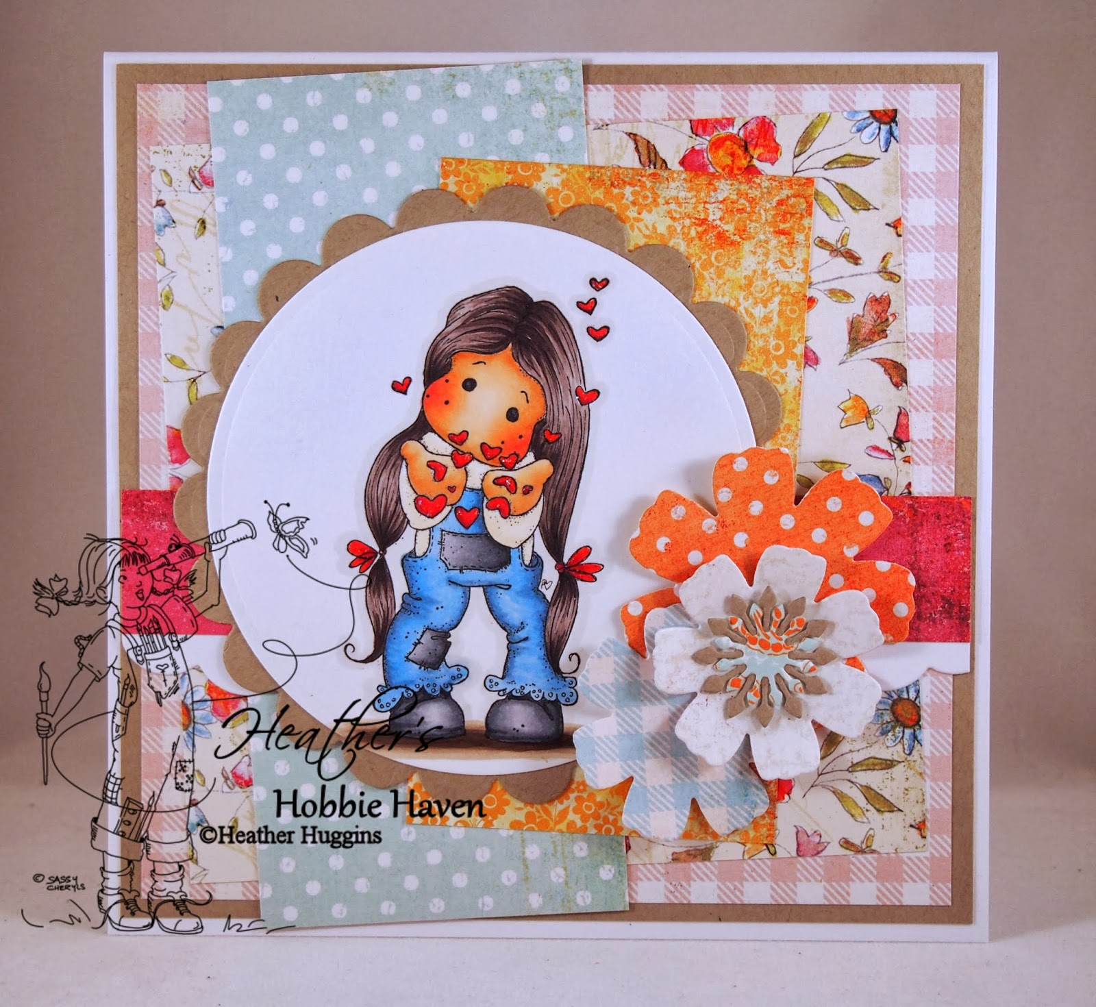 Heather's Hobbie Haven - Tilda Blowing Hearts Card Kit