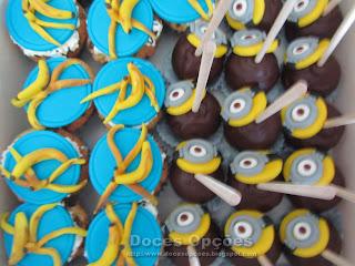 cakepops e cupcakes minions