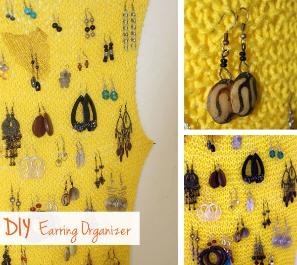 InspirU CooCoo: DIY Earring Organizer