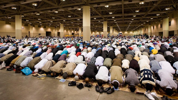 Muslims praying in Toronto in 2011