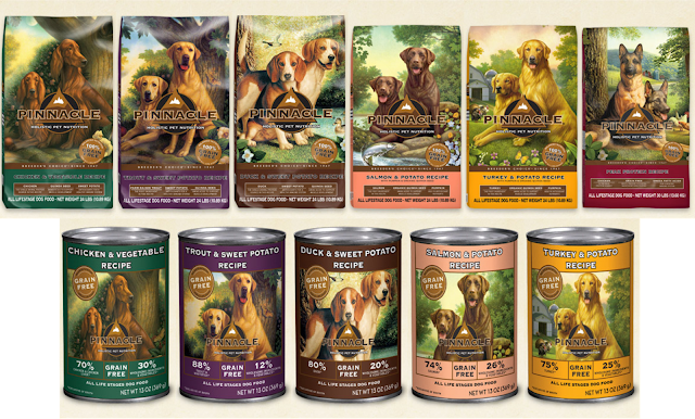 grain free dog foods in wet and dry varieties
