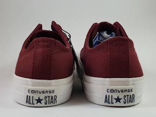 Sepatu Converse Chuck Taylor II Premium low maroon, jual  converse ct 2, harga converse ct 2 premium, converse terbaru, converse lunarlon, converse basket
