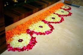 Simple Flower Rangoli Designs