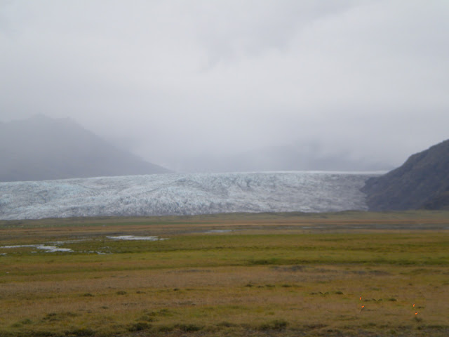 One snout of glacier reaching near road