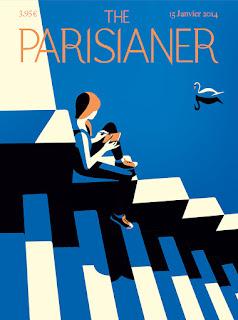 Ilustración de Malika Favre para revista The Parisianer