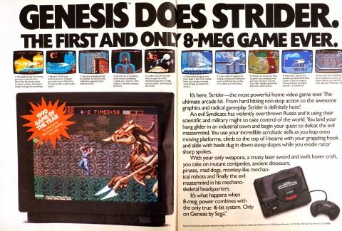 Strider for Genesis print ad