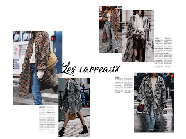 manteau carreaux