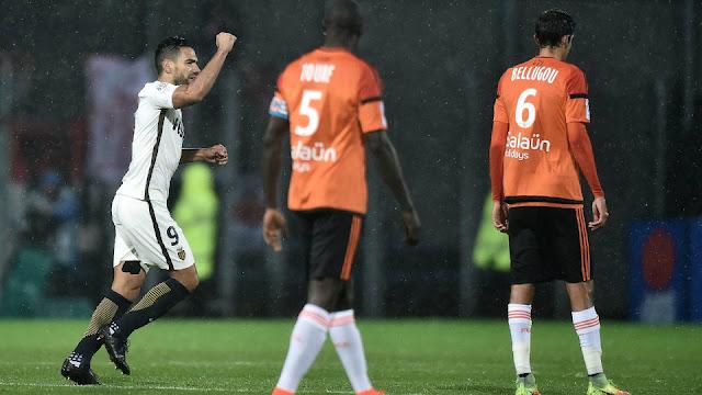 L'attaquant Falcao a inscrit un but face à Lorient