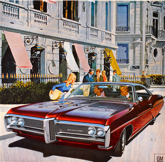 American & Canadian Illustrated Automobile Ads From 1960s