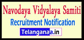 NVS  Navodaya Vidyalaya Samiti Recruitment Notification 2017 Last Date 04-05-2017