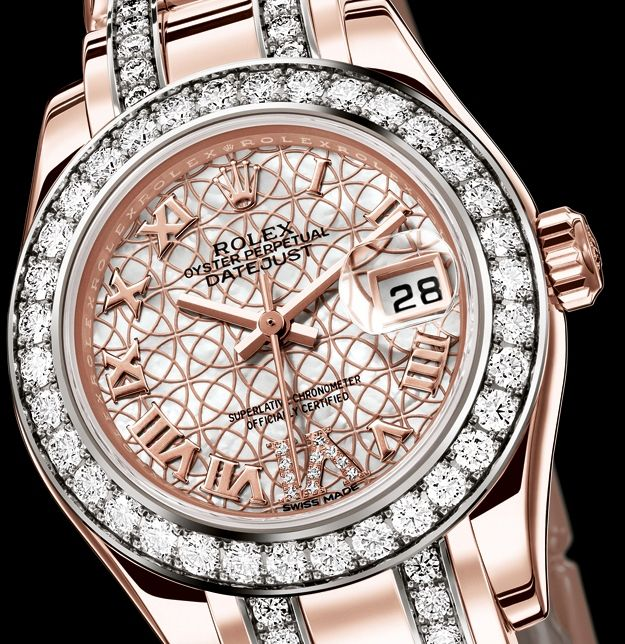 da1643d26f2 ROLEX OYSTER PERPETUAL LADY-DATEJUST PEARLMASTER (New Model in 18ct EVEROSE  Gold Case