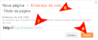 como colocar links no menu do blogspot
