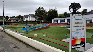 Crazy Golf at Brodick, Isle of Arran. By Martin Evans September 2018
