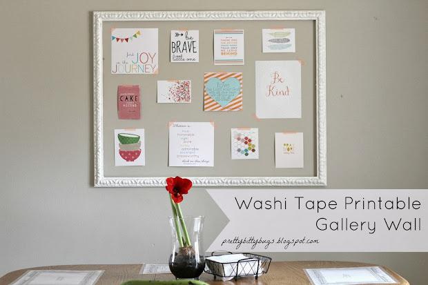 Pretty Bitty Bugs Washi Tape Printable Wall
