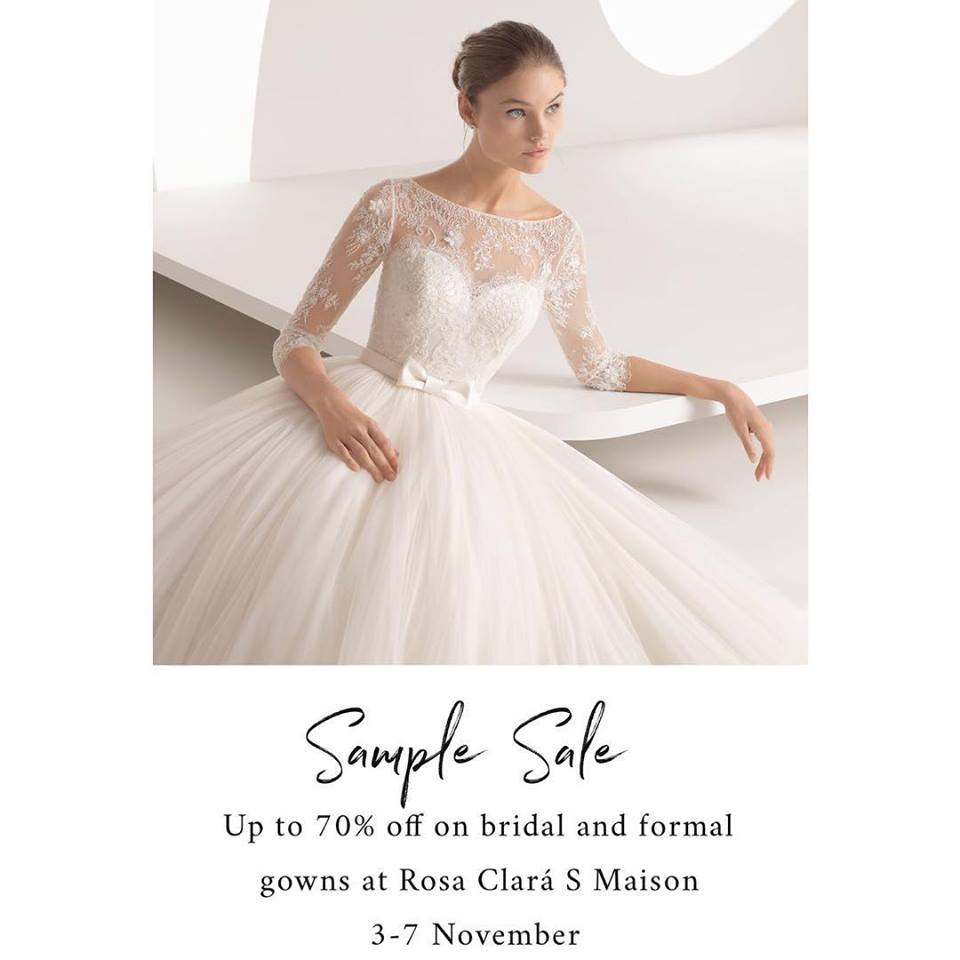 Affordable Wedding Gowns In Manila: Manila Shopper: Rosa Clara S Maison Sample SALE: Nov 2018