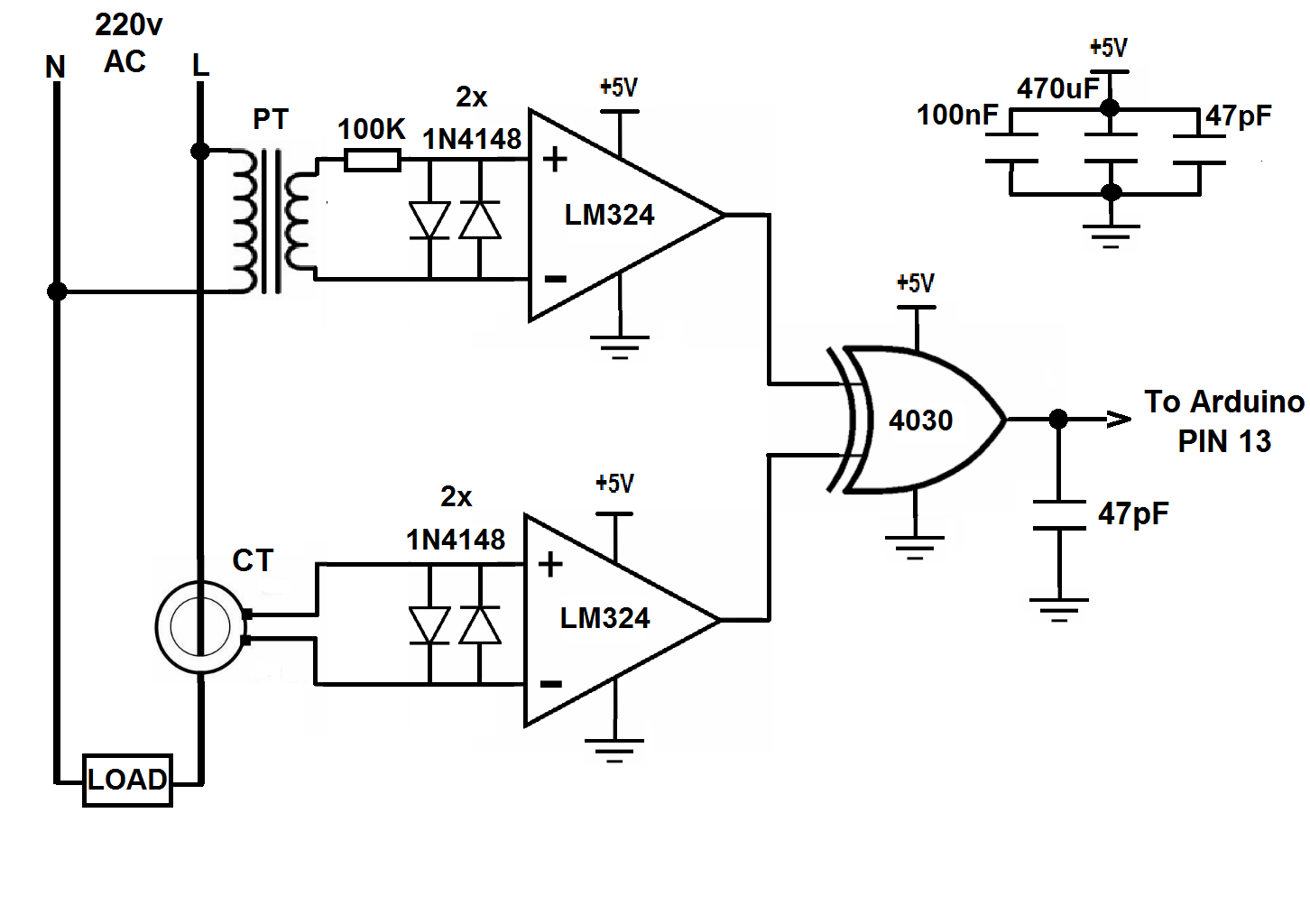 Power Factor Measurment Using Arduino Simple Projects