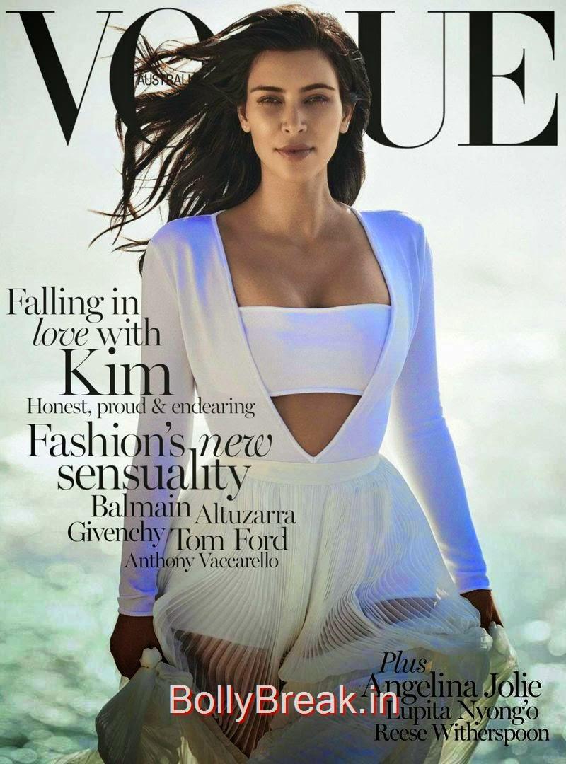 Kim Kardashian by Gilles Bensimon for Vogue, Australia, February, Kim Kardashian Hot HD Magazine Scans For  Vogue Australia February 2015