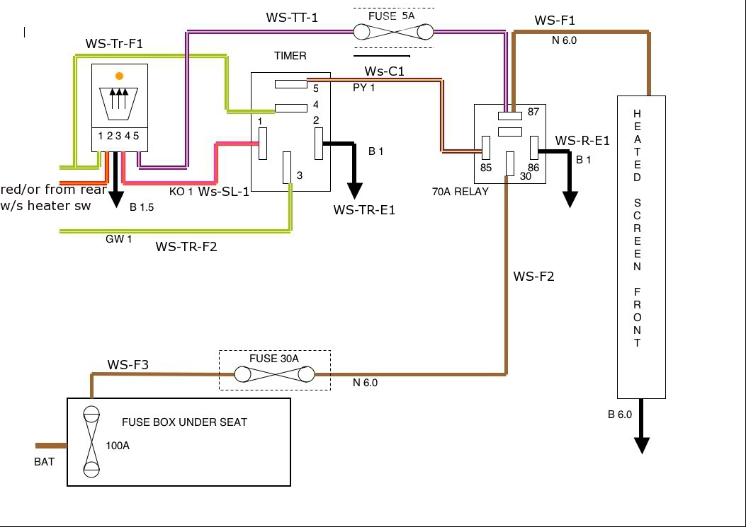 simple push on switch wiring diagram