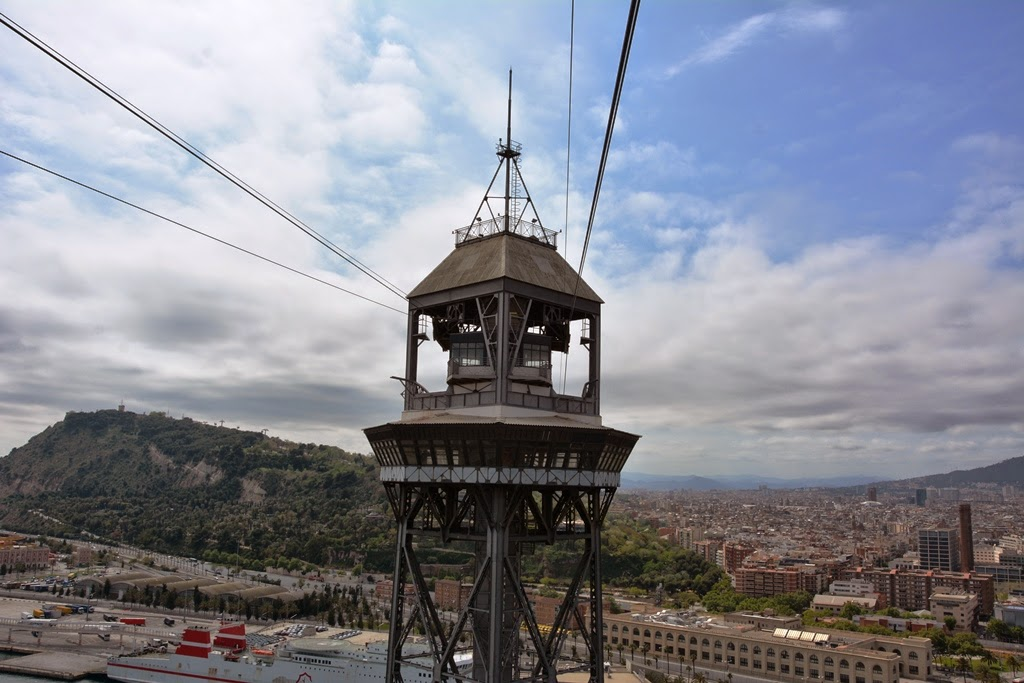 Cable car Barcelona historical