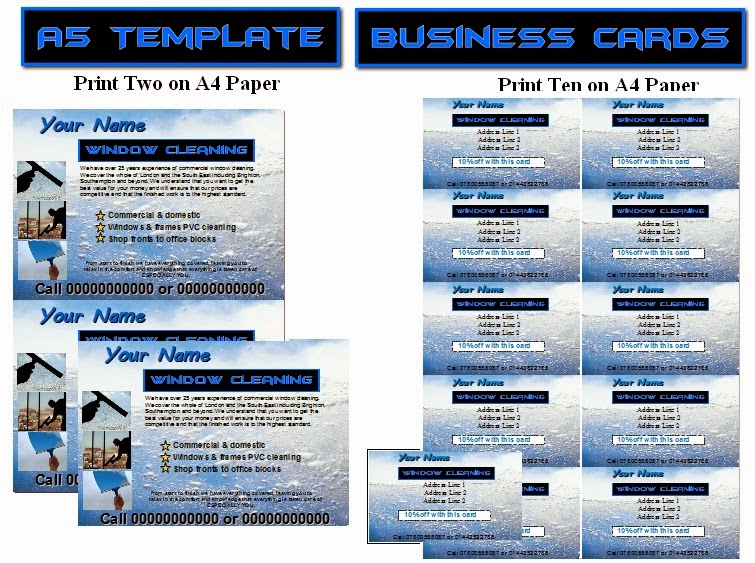 window cleaning flyer templates business templates forms