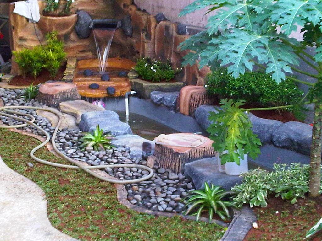 Desain Kolam Minimalis Dan Relief Cadas Tukang Taman Hias
