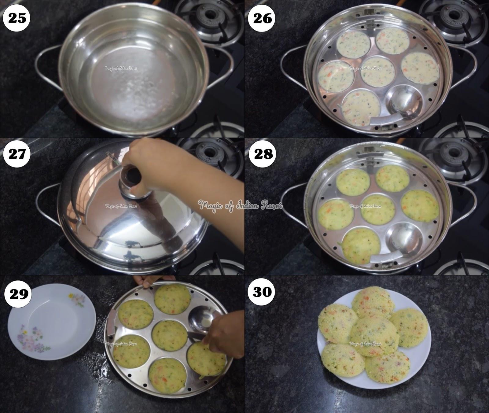 Instant Rava Idli Mix Recipe - रवा इडली मिक्स घर पर बनाये - Priya R - Magic of Indian Rasoi