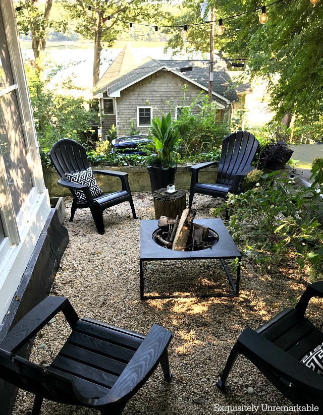 Black Plastic Adirondack Chair DIY Makeover Exquisitely Unremarkable