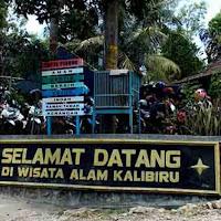 foto gerbang selamat datang di wisata alam kalibiru