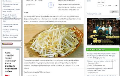 Forum dan Komunitas Pertanian Indonesia - Agroteknologi.web.id - kecambah