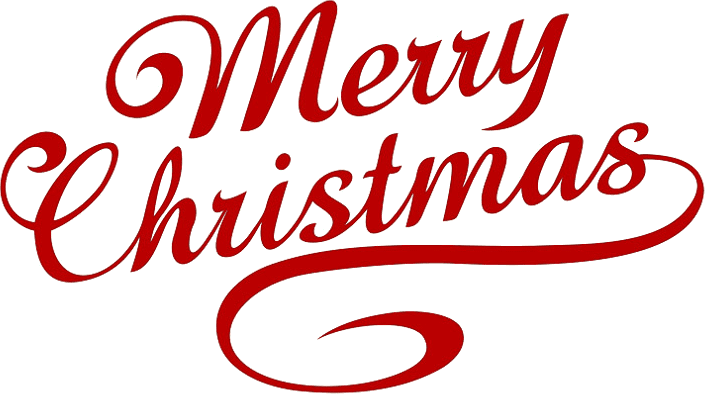 Top merry christmas lettering