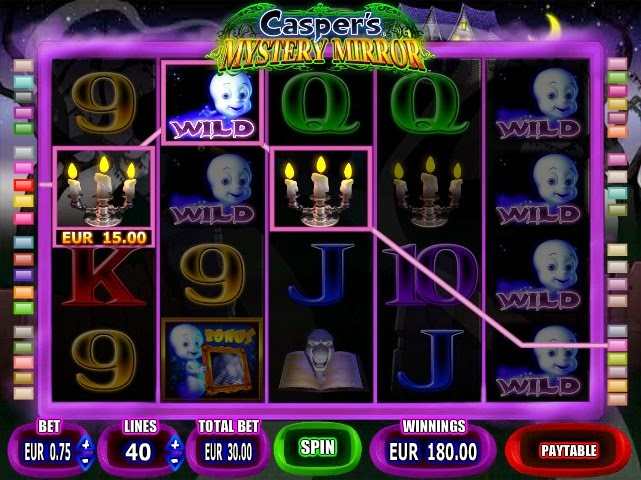 Caspers Mystery Mirror Slot Screen