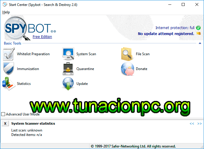 Spybot Search & Destroy Elimina spyware
