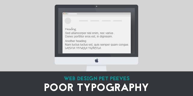6. Poor typography
