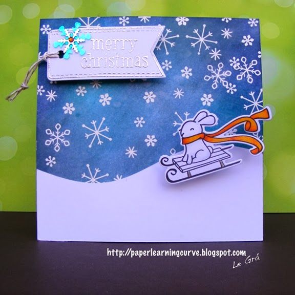Lawnscaping Winter Blog Hop 2013, Lawn Fawn Winter Bunny, Winter Gifts