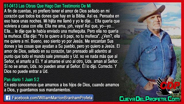 Yo te quiero a ti papi no tu muñeca - Citas William Branham Mensajes