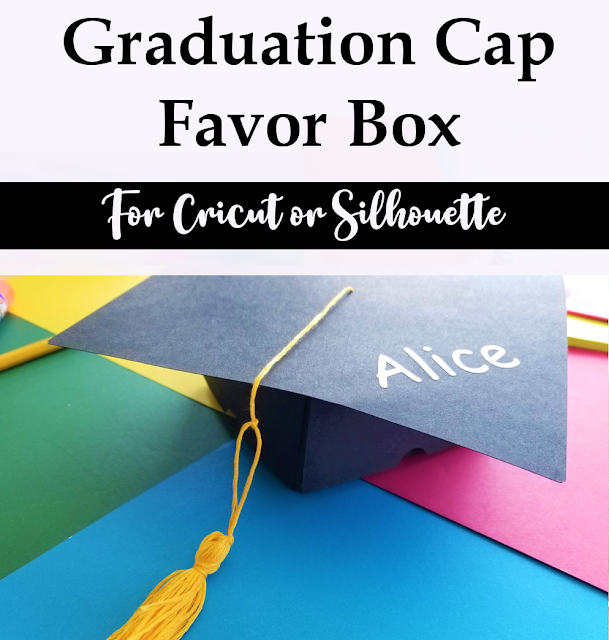 Graduation Cap Favor Box and Tassel Tutorial
