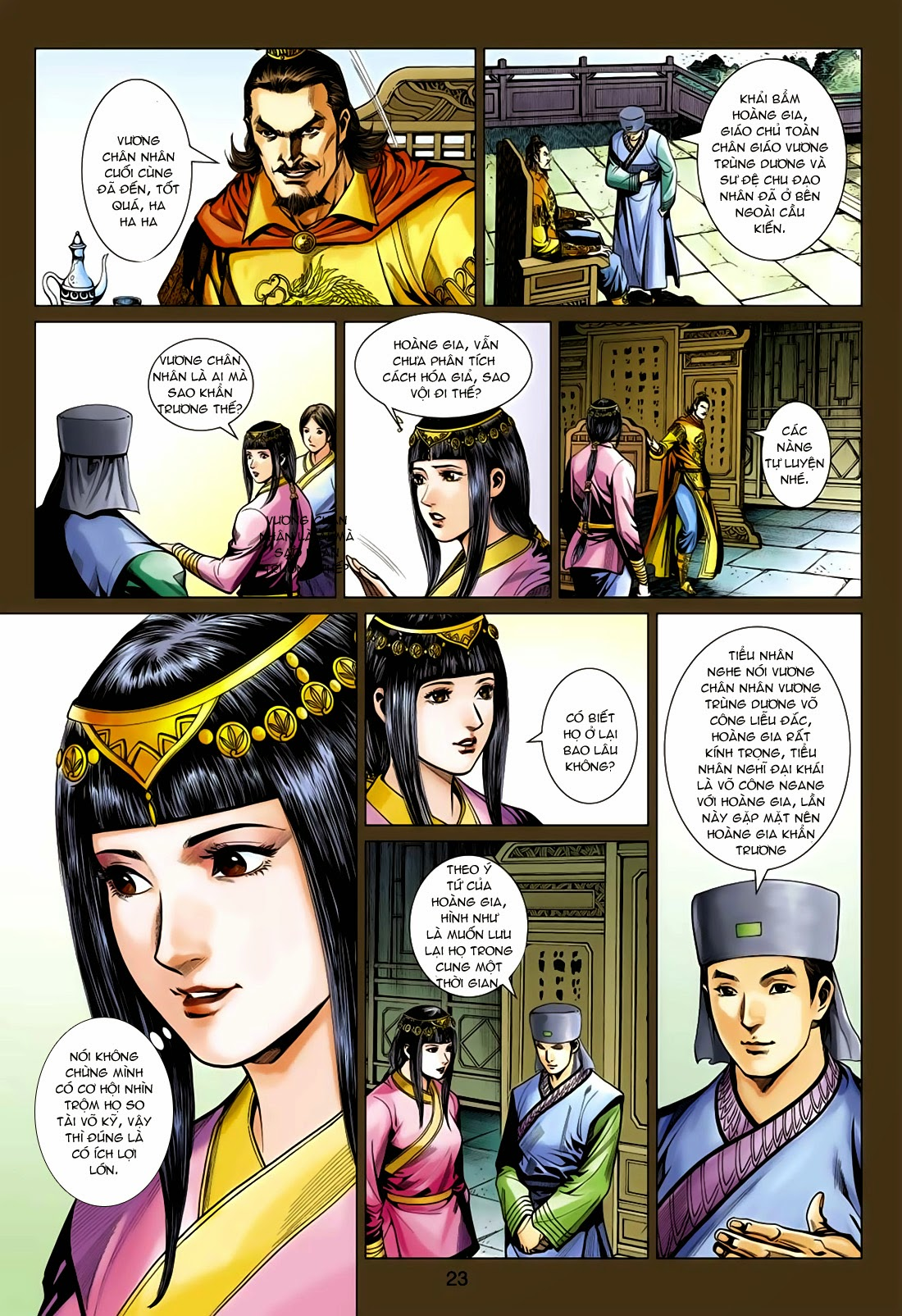 Anh Hùng Xạ Điêu anh hùng xạ đêu chap 75: hoàng thành cựu sự trang 23