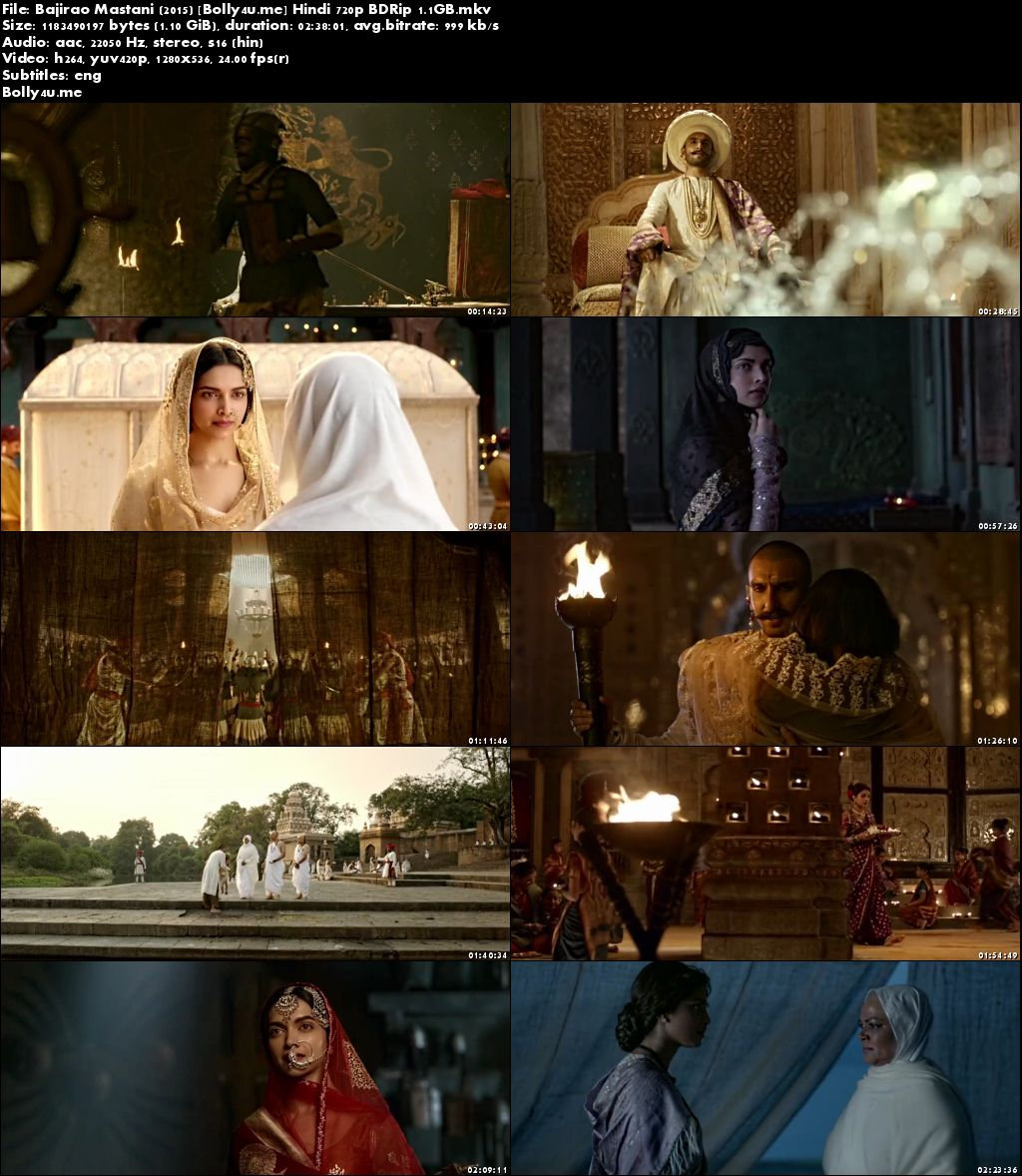 Bajirao Mastani 2015 BDRip 450MB Full Hindi Movie Download 480p