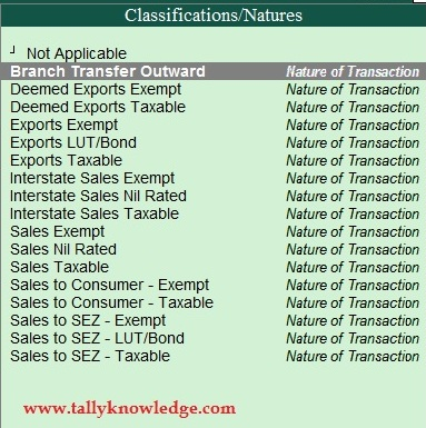 How to Create Tax Classification in TallyERP.9?