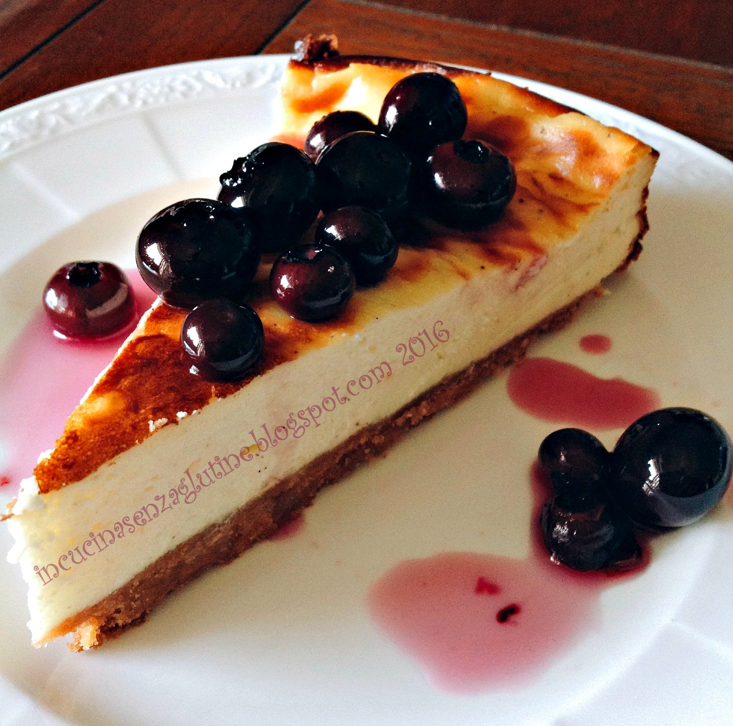 In cucina senza glutine new york vanilla cheesecake with blueberries cheesecake senza - Cucina senza glutine ...