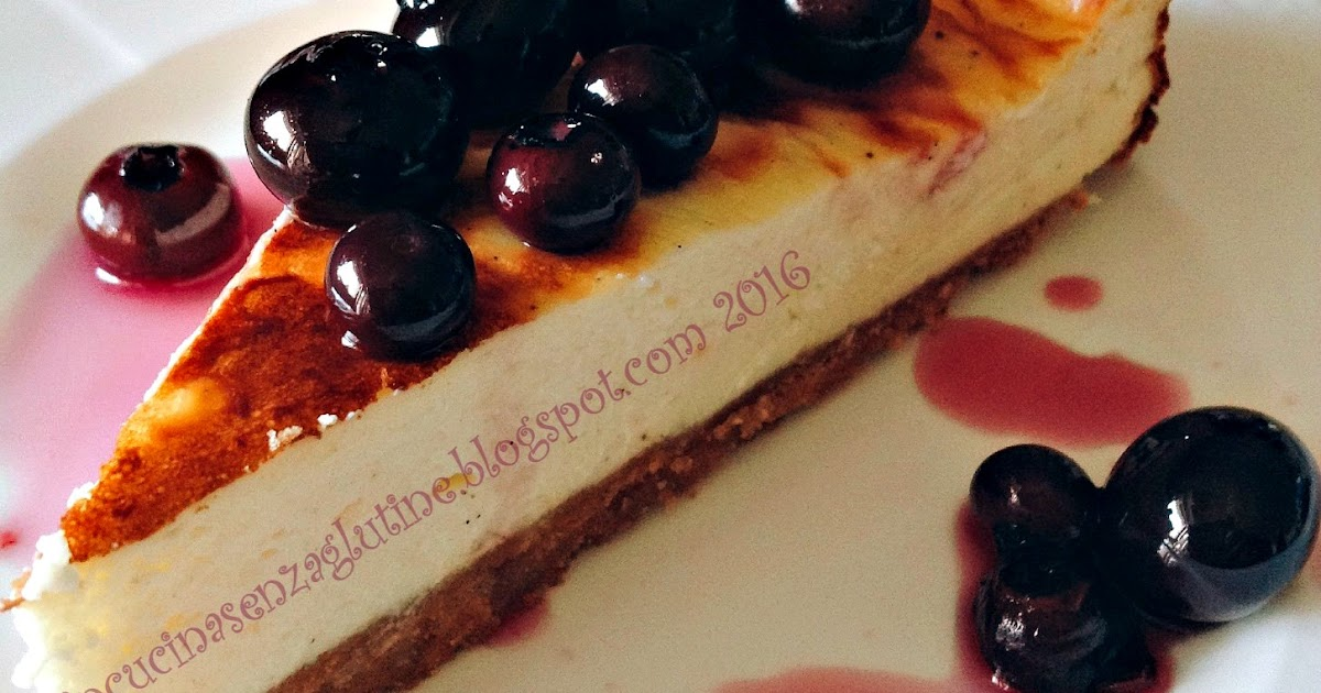 New York vanilla cheesecake with blueberries - Cheesecake senza glutine alla vaniglia con mirtilli di Jamie Oliver