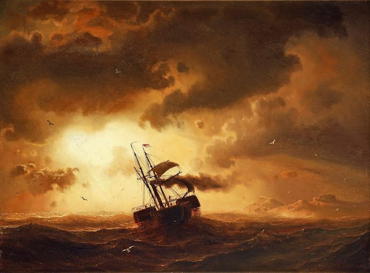 Marcus Larson - Hjulangare pa stormigt hav